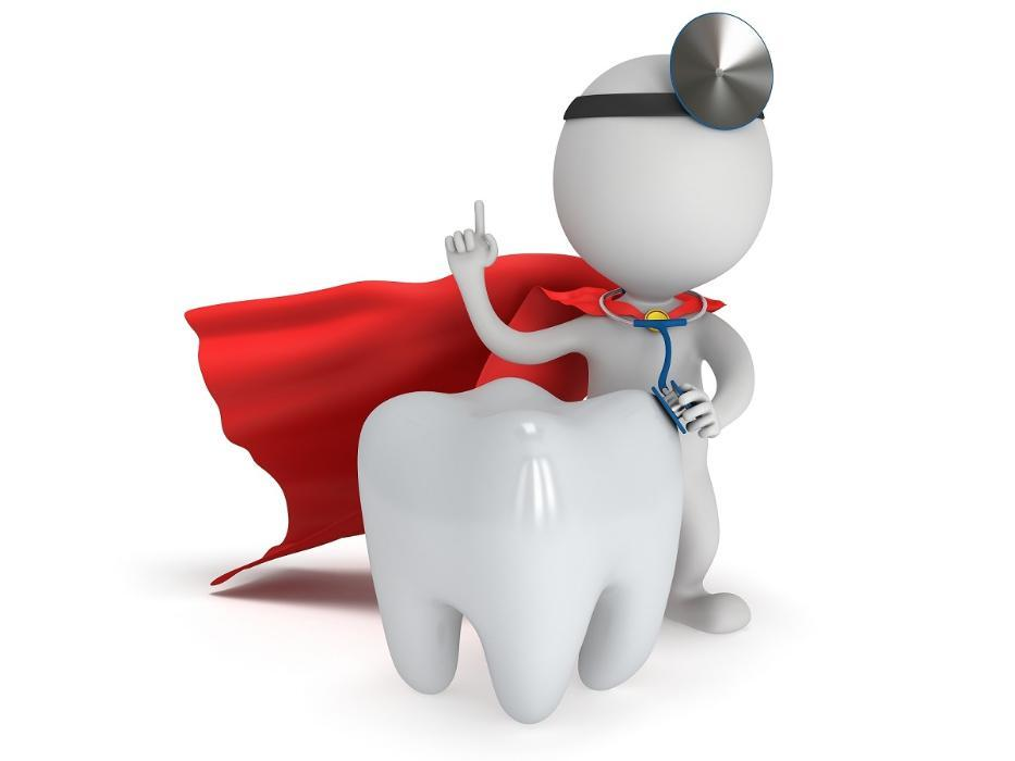 Tooth wearing a cape